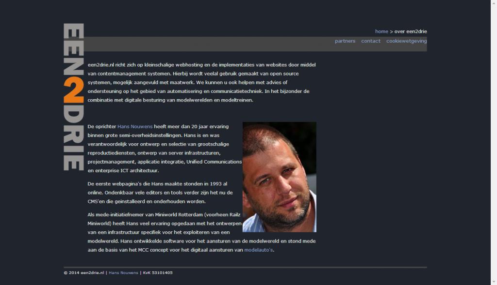 website een2drie - 2
